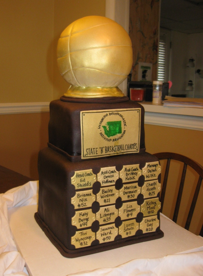 Basketball Trophy Replica